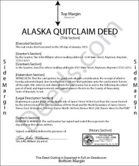 alaska quit claim deed forms deedscom