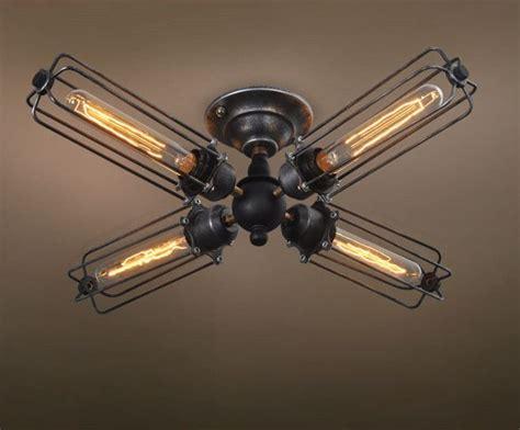 flush mount caged ceiling fan cylinder 4 lights cage flush mount ceiling light ceiling