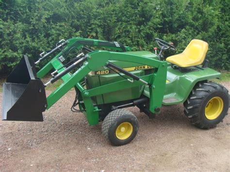 garden tractor loader deere simplicity garden tractor front end loaders 3734