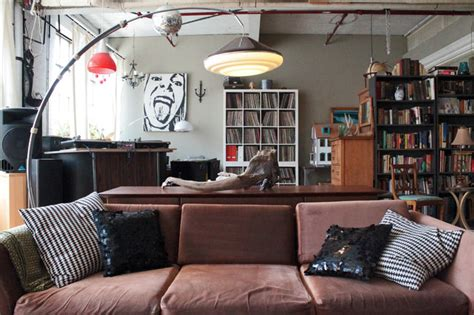 The Living Room Montreal :  Vintage Finds In Funky Montreal Artists' Loft
