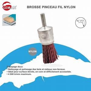 Brosse Métallique Pour Perceuse : brosse pinceau fil nylon pour perceuse leman leman ~ Dailycaller-alerts.com Idées de Décoration