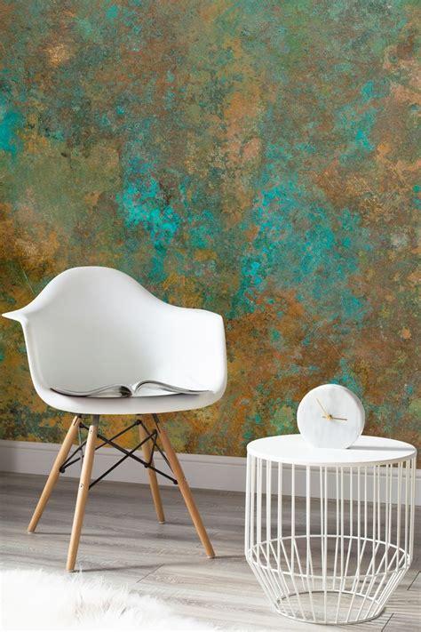 copper verdigris wallpaper mural patina effect
