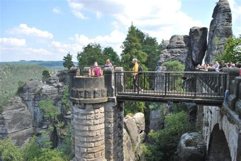 bastei bridges picture  saxon switzerland national