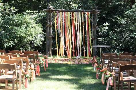 rustic backyard wedding in wilton blush floral design