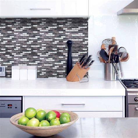 kitchen stick on backsplash smart tiles murano metallik 10 20 in w x 9 10 in h peel