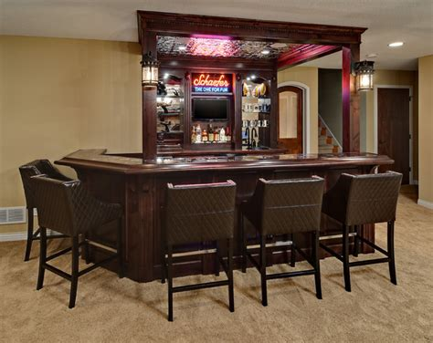 Home Bar Layout by Minnetrista Basement Traditional Home Bar