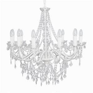 Kronleuchter Weiß Landhausstil : landhaus gro er kronleuchter wei kristalle l ster 12 armig h70cm deckenlampe ebay ~ Indierocktalk.com Haus und Dekorationen