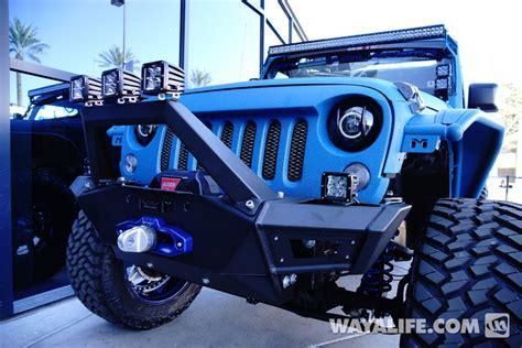 starwood jeep blue 2014 sema starwood motors blue vpr jeep jk wrangler unlimited