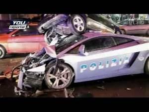 Lamborghini Gallardo police car crash.wmv - YouTube