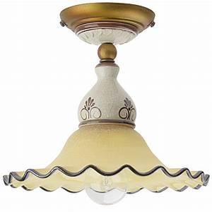 Lampen Landhausstil Innen : italienische landhaus deckenleuchte aus glas und keramik ~ Eleganceandgraceweddings.com Haus und Dekorationen