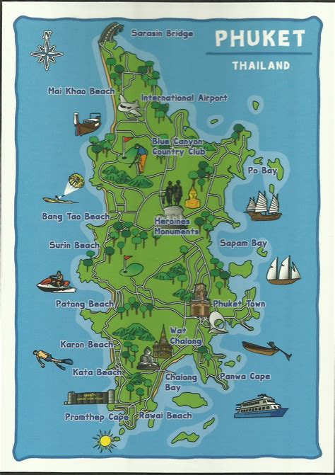 phuket map cartoon pictures  pin  pinterest pinsdaddy