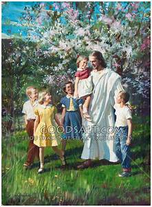 Children Walking With Jesus