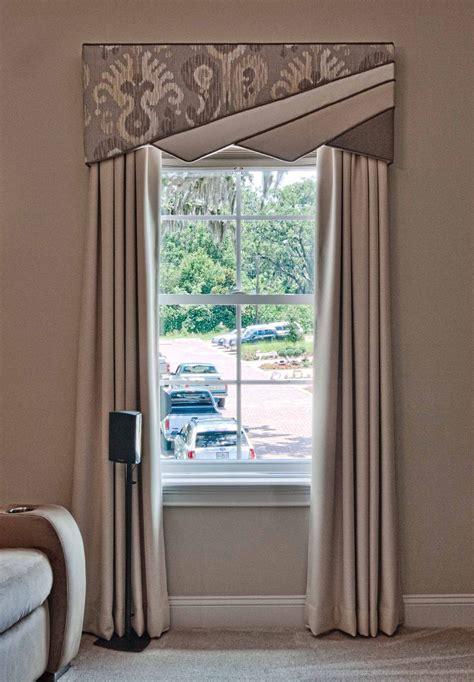 contemporary window treatment design    split