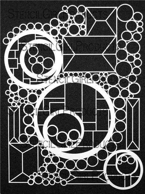 Doodle It Geometric Landscape Stencil | Maria McGuire