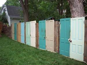 Projects to ponder: fences made of old doors the doodle