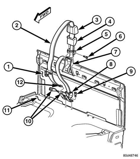 Seat Belt Buckle Parts Diagram Auto Wiring