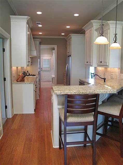 galley kitchens with breakfast bar warm galley kitchen 6786