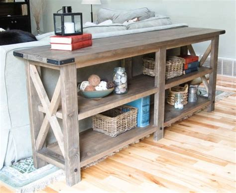 diy sofa table plans rustic sofa table plans woodworking projects plans