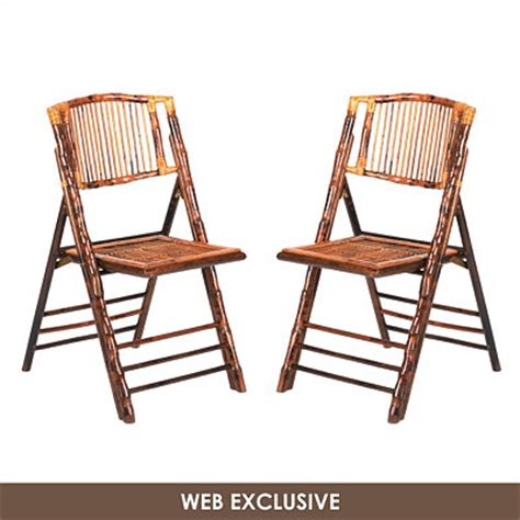 kirklands tortoise rattan folding chair set of 2