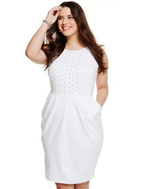 Leaderbunhin  White Plus Size Party Dresses