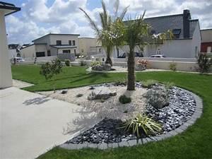 deco jardin palmier With idee deco jardin gravier 0 idee deco jardin avec recup with contemporain terrasse et