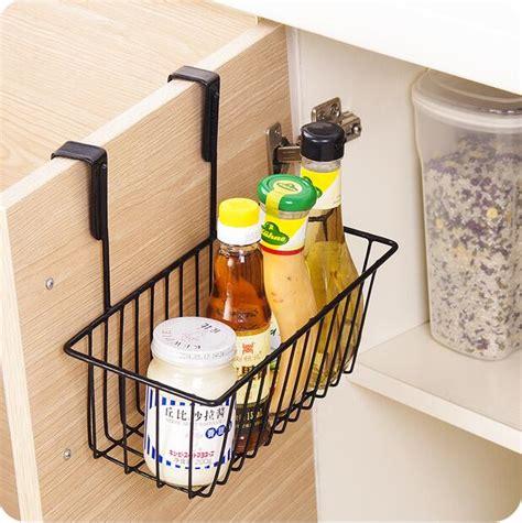 kitchen organizer iron cabinet door hanging storage basket