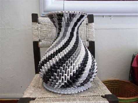 papel mach 233 jarrones de papel doblado y ensamblado hecho a mano por mauricio vargas en dawanda