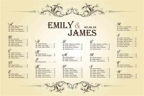 table charts for wedding reception wedding seating chart vintage for your reception