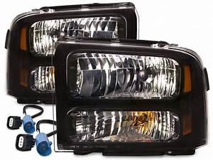 Headlights Black 00 01 02 03 Fits 99