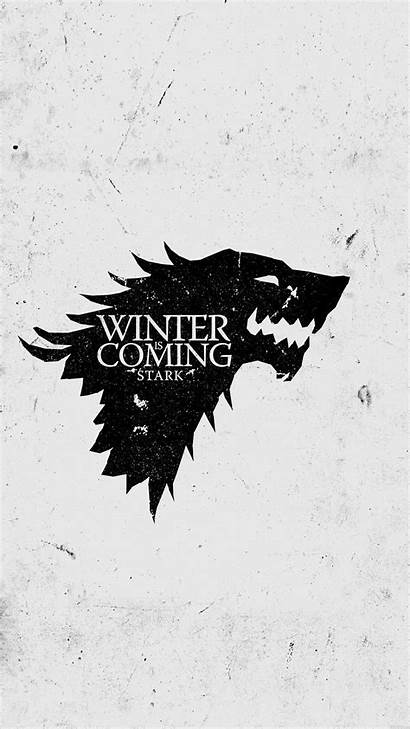 Thrones Iphone Winter Coming Stark Wallpapers Sigil