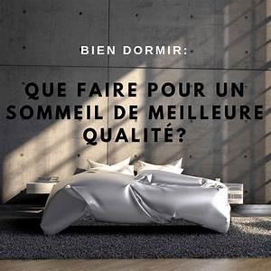 Que Faire Pour Bien Dormir : bien dormir que faire pour un sommeil de meilleure qualit mind beauty ~ Melissatoandfro.com Idées de Décoration
