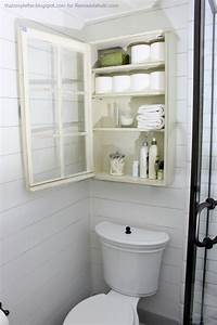 bathroom cabinet storage Remodelaholic | Bathroom Storage Cabinet using an old Window