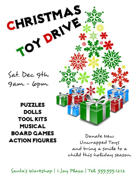 toy drive flyer template word template design toy drive flyer template free