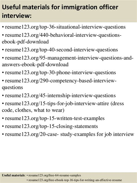 top 8 immigration officer resume sles