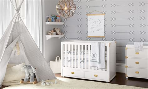 pottery barn baby wall decor 5 tips for styling a bright and neutral nursery pottery barn