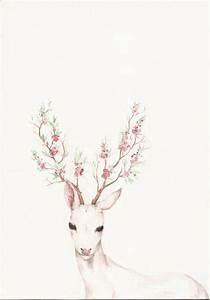 Floral deer antlers- Found on Tumblr, not my artwork ...