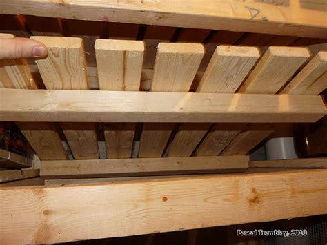 rangement chambre froide construire des casiers bacs à légumes pour chambre froide