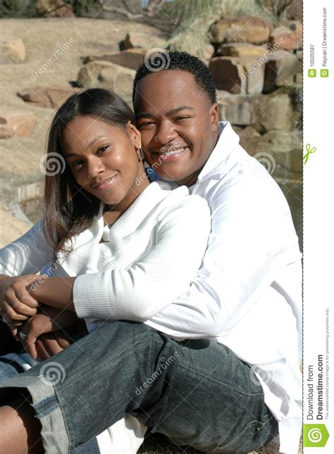 happy black married couple royalty  stock photography