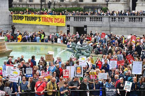 Trump Crowd Protest London