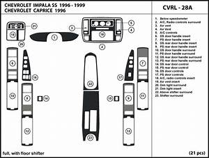 Fits Chevrolet Impala Ss 96 1996 With Floor Shifter Dash Kit Trim Interior