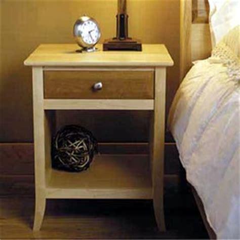 maple cherry nightstand woodworking plan dp
