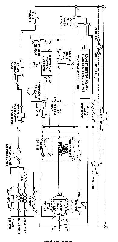 Whirlpool Gas Dryer Schematic American Service Dept