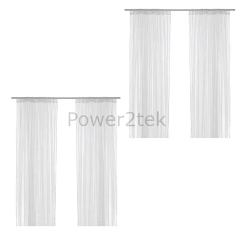 ikea lill 2 pair of sheer floaty white net curtains