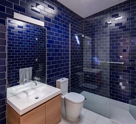 bathroom design idea mix  match glossy  matte tiles