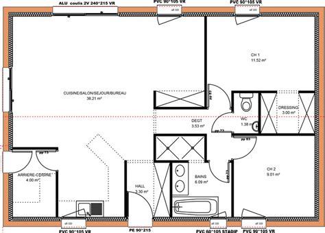plan maison plain pied 2 chambres avant projets de construction de maison en loire atlantique