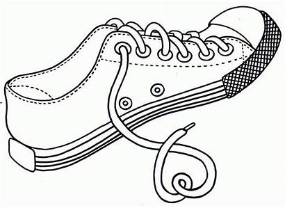 Coloring Shoes Pages Printable Popular