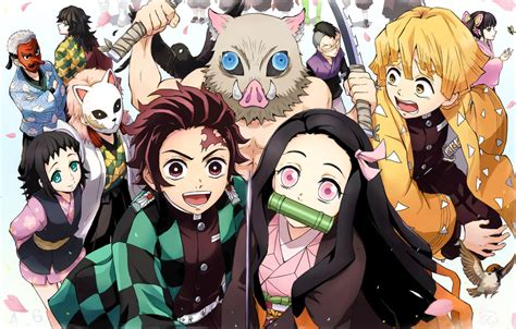 wallpaper creatures characters demon slayer kimetsu