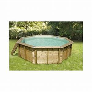 Liner Piscine Octogonale : piscine bois octogonale oc a 430 cm cm liner bleu ~ Melissatoandfro.com Idées de Décoration