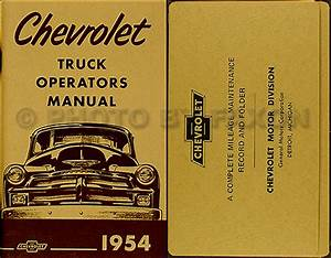 1954  U0026 1955 1st Series Chevrolet Truck Wiring Diagram