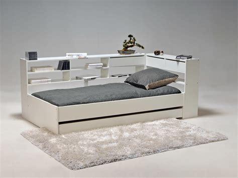 buffet rangement cuisine lit combiné 90x190cm étagères tiroir sommier à